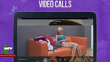 Busty blonde masturbates in a video call ADR00039