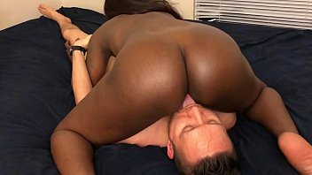 Black Teen Grinds On Face And Sucks White Guys Dick