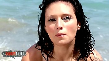 Hot Lulu Pretel removing clothes on the beach