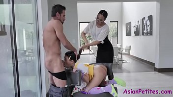 Teen Petite Asian Fucked By Neighbor MILF And Her Husband- Diamond Banks And Elle Voneva