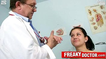 Breast cancer clinical - Hot czech brunette monika gets fingered by daddy doctor