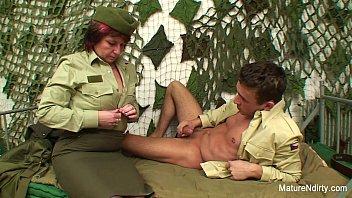 Military men havin sex - Granny gets dick