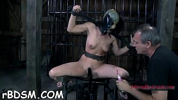 Anal toys blow up Clamped up playgirl gets a hook in her anal with toy torture