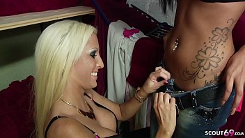 LESBIAN TEEN CAUGHT BY LICKING IN BACKROOM - GERMAN