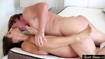 Bigass stepdaughter pounded on her back pornhub video