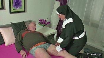 Old german blow job German milf nun fuck with stranger old man