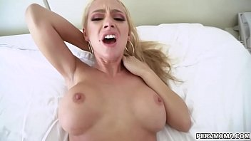 Stepmom Honey Blossom wants more of her stepsons young dick and spread her legs to slam her more