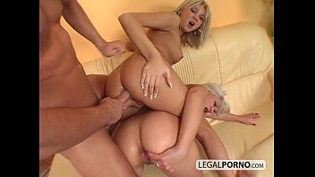 2 cute blondes get fucked in the ass and pussy SL-19-03