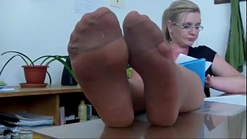 mrs teacher and her nylonfeet 4