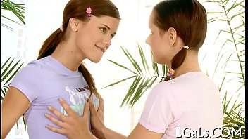 Two angels have lesbo fun