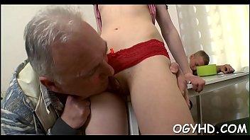 Sweet young pussy free video Kinky juvenile beauty enjoys old boner