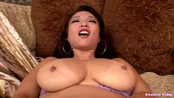 Asian deepthroat free - Busty mia rider slurps and swallow