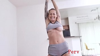 Blonde Mom Fucks Son With Her YOGA Shorts On- Natasha Starr video