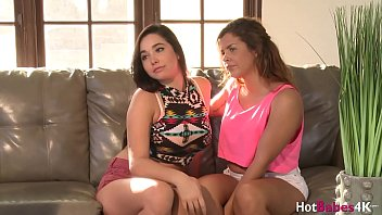 Lesbian teen Keisha Grey eaten out by busty blonde threesome thumbnail