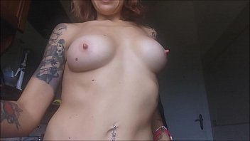 I really need to have a nice shower, but first I have to massage my big tits for a long time and undress all صورة