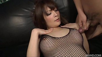Riona looks sexy in black and her husband bends...