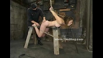 Hogtied redhead 2008 jelsoft enterprises ltd Redhead tied in rope in various positions in bondage punishment video