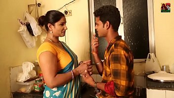 Indian Neighbour Aunty With Young Boy