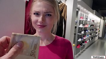 Hot sales lady fucks stranger for cash