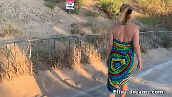 SexChallenge 2019 Blowbang and Bukkake to the beach 4