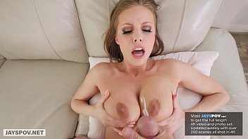 BUSTY MILF BRITNEY AMBER USES HER BIG BOOBS TO FUCK HER STEP SON