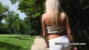 blonde public park fuck amateur