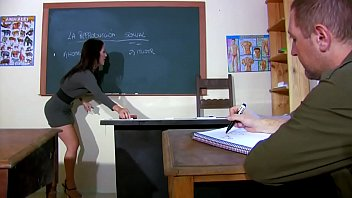 Girls who fuck their teacher - The teacher shot while getting fucked during a lesson