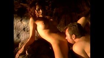 Hot slut sucks a big cock while in a cave