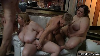 Black fatty orgy Huge titted fatty gets pounded by slim guy