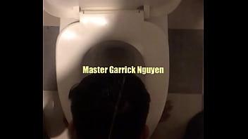 Master Garrick pissed on slave's head