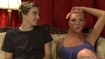 Blonde shemale anal fucks stepbrother