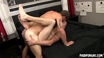 Massive rod homosexual anal job with love juice drinking