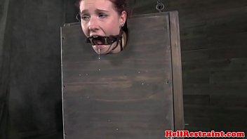 Maledoms ass play with fetish box slut