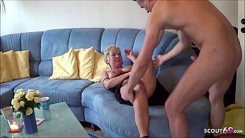 German Mature secretly Cheating Fuck with Young Neigbour