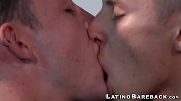Skinny latino hammers twink ass bareback after blowjob thumbnail