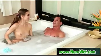 Hot asian masseuse sucking bigcock during wet massage 09