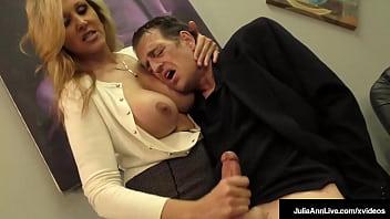 Horny Loving Big Tits Mommy Julia Ann Wacks Off Her Perverted Step Son