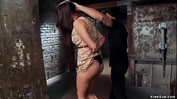 Busty trainee is bound and toyed
