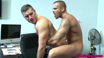Gay officer action league - British muscled tattood poofs bum fuck