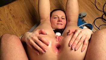 Vilma Kazlauskaite Stretching Asshole
