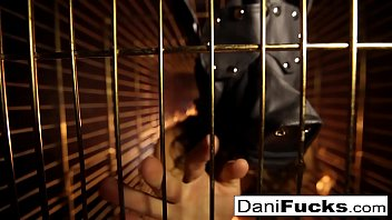 Sexy Dani Daniels A Trapped Bitch Inside A Dog Cage