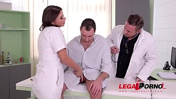 Double penetration at the clinic gives nurse Anna Polina chills of pleasure GP542
