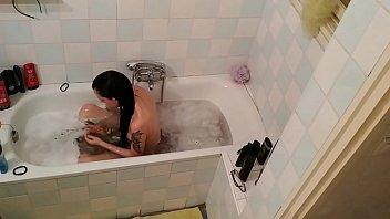 Hidden cam in a slim teen girls bathroom pt2 HD