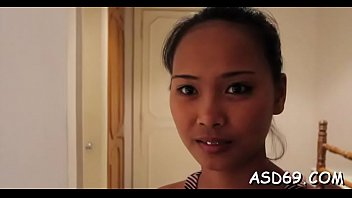 Skinny thai beauty gives an oral