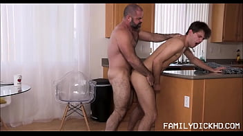 Free dad and son gay Horny bear stepdad wants quickie from young stepson before school