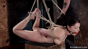 Babe in brutal bondage pussy toyed