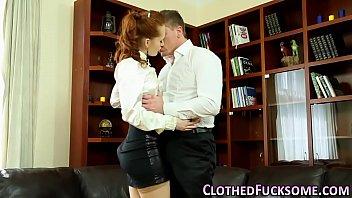 Ginger european spunked video