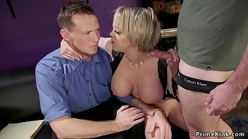 Huge tits wife anal bangs husband threesome thumbnail