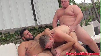 Chubby threeway bears bare fuck silver wolf