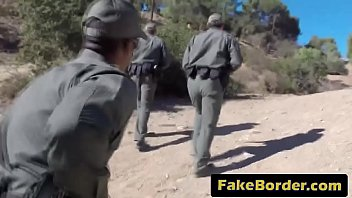 Latina babe fucked hard by a huge black cocked border agent